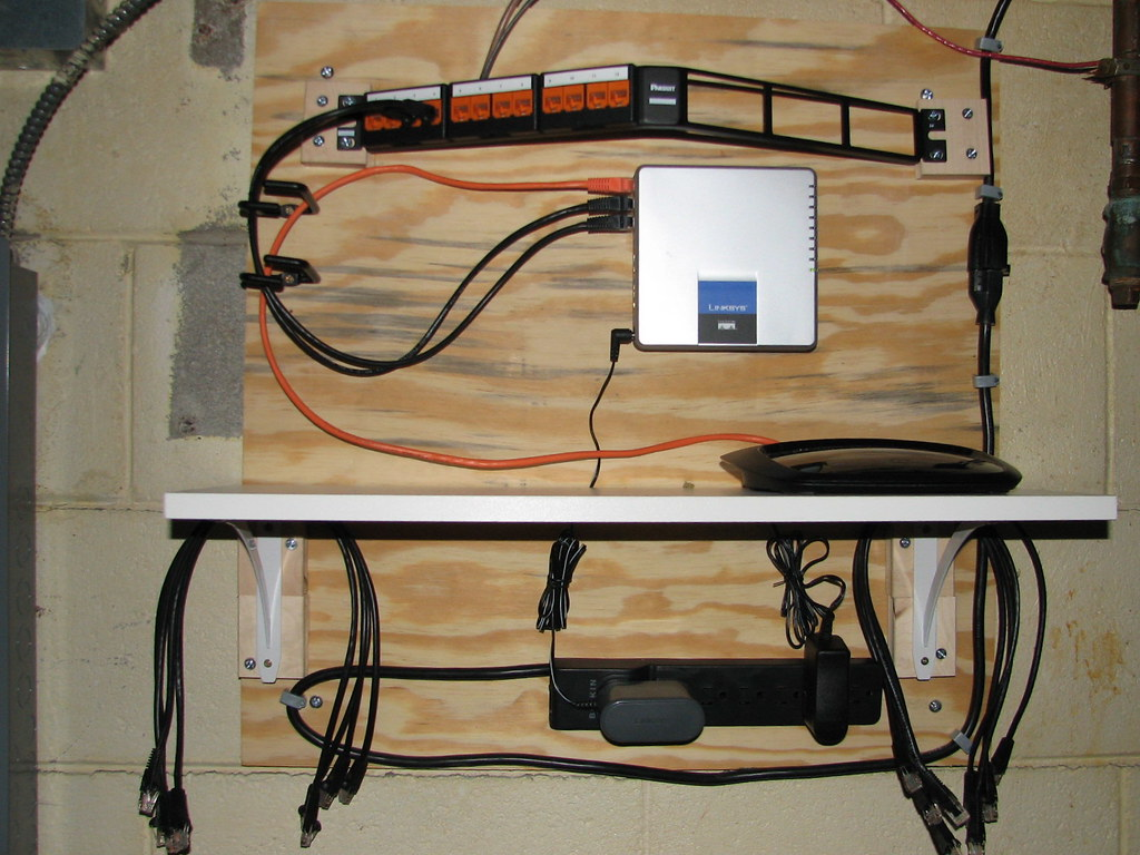 Network Wiring Closet After Office Jack Install Kurt Magoon Flickr By