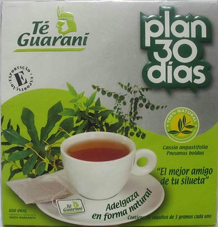 Te guaraní | Te Guaraní, Excelente adelgazante. Plan 30
