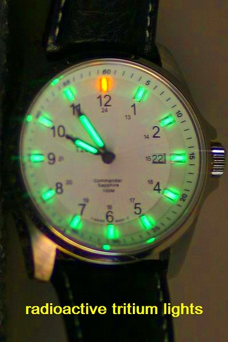 Radioactive Tritium Dial Watch 25 Light Years No Battery