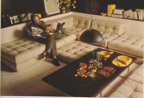 Roche bobois 1977 mobili lounge victor underhill flickr for Sunken living room 70 s