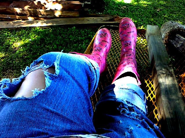 rip my jeans more, baby | (color burst) (ripped jeans) (boot