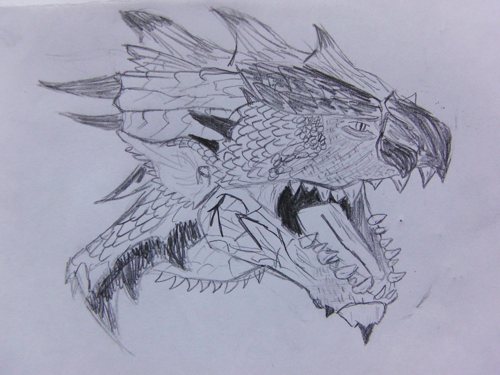 Line Drawing Monster : Monster hunter drawing had to stay at my nans the other niu flickr