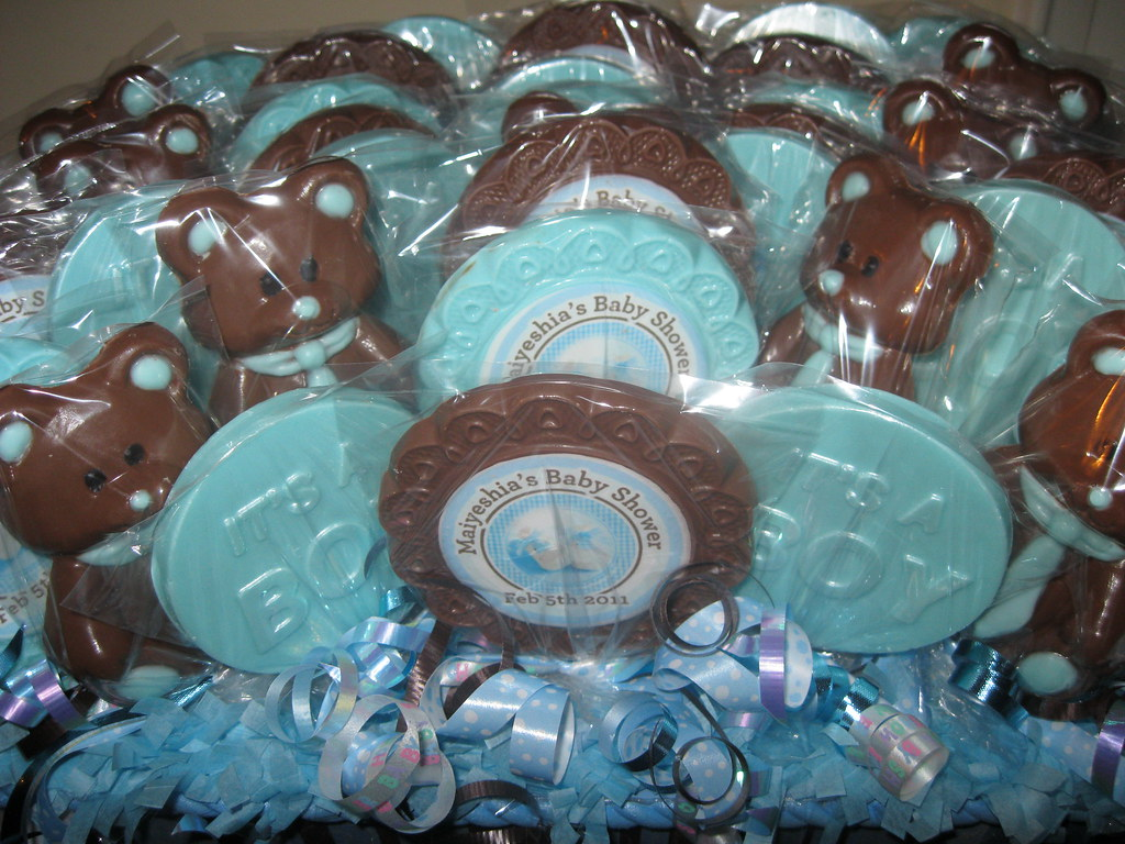 Blue Brown Baby Shower Lollipops Lynn S Flickr