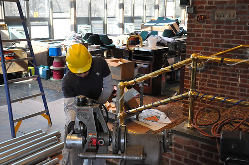Contractor cuts piping at the Fort Hamilton Community Club | by USACE HQ