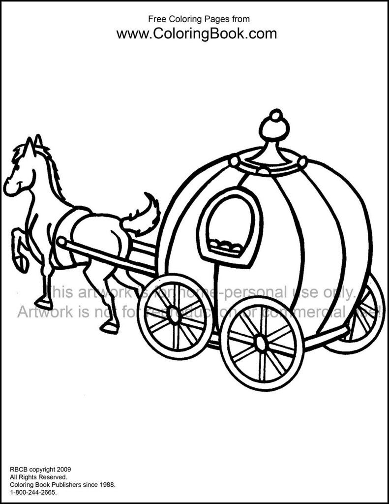 horse carriage coloring pages - photo#2