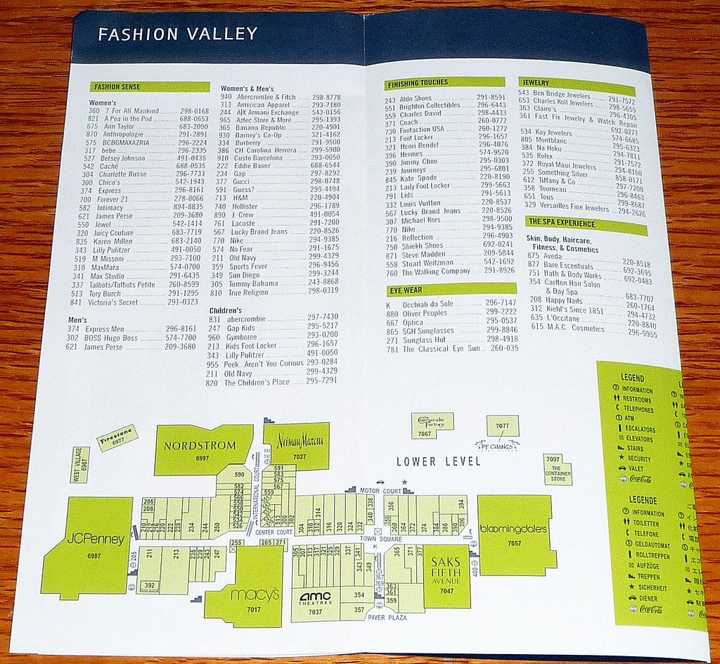 Fashion Valley San Diego Map.Imagenes De Fashion Valley Mall San Diego Store Map