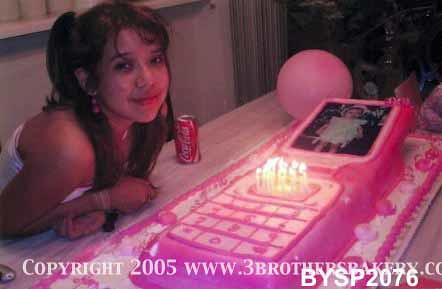 BYSP2076 cellphone Birthday Cake 3 Brothers Bakery Flickr