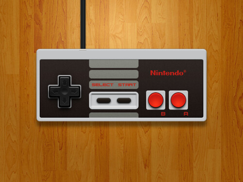 Nintendo nes controller now that the main ui work for