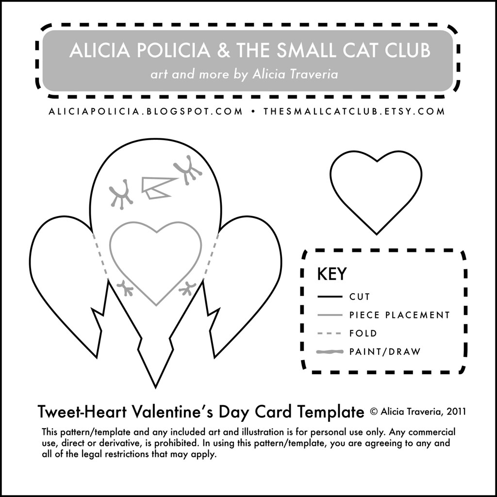 Tweet Heart Valentines Day Card Template Free Template Fo Flickr