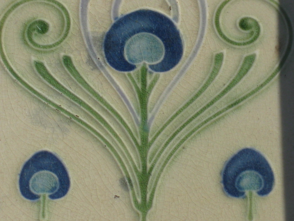 Art nouveau tile of peacock feathers coburg this beautif flickr art nouveau tile of peacock feathers coburg by raaen99 dailygadgetfo Gallery
