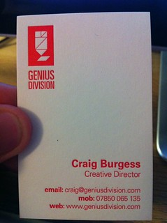 New Genius Division Business Cards | by craigburgess