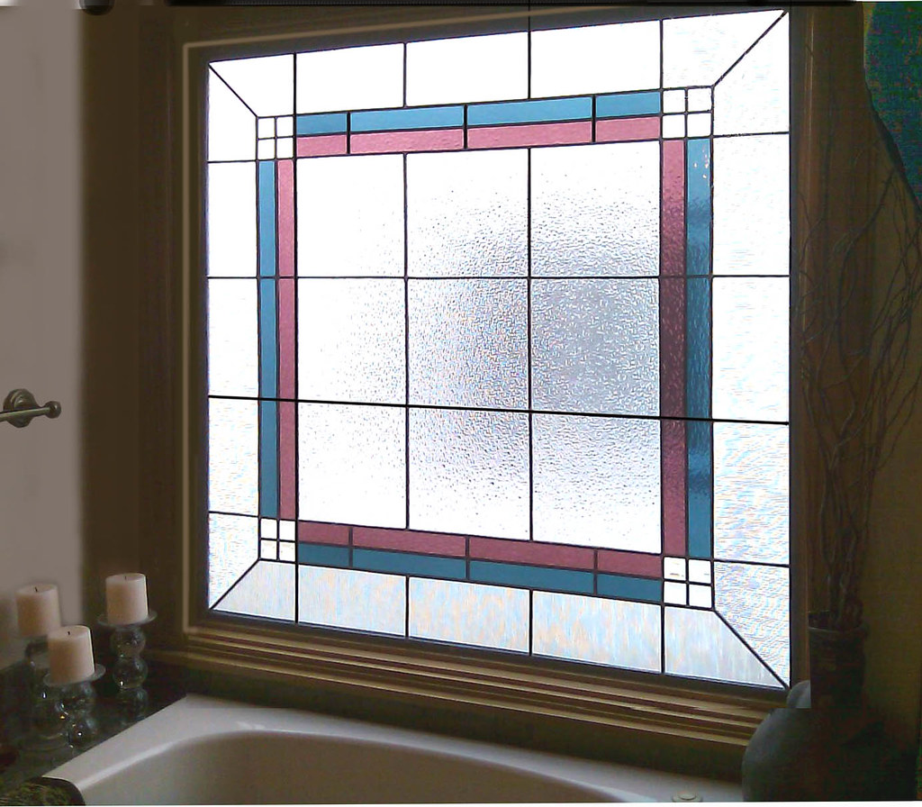 ... Modern Bathroom Stained Glass Windows | By Scottish Stained Glass