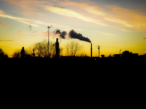 Sunset Over the Fisk Coal Fired Plant | by vxla