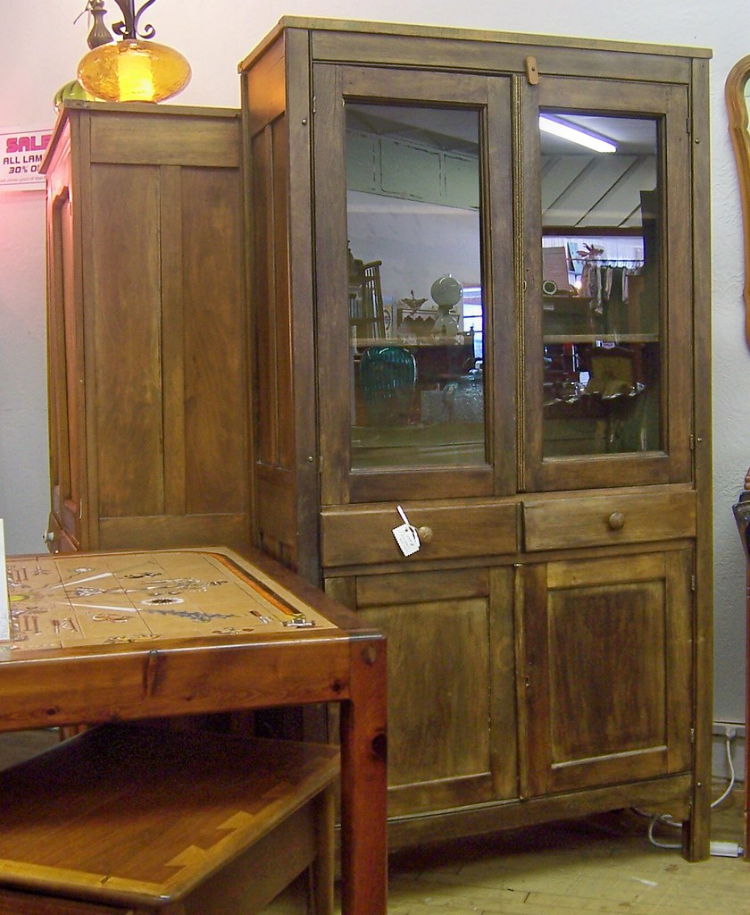 ... Antique Walnut China Cabinet   by Brian D Cole - Antique Walnut China Cabinet Here Is A Nice Old Cabinet Fo… Flickr
