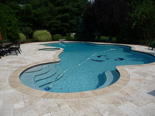 ... Luxury Custom Free Form Swimming Pool Design And Hot Tub | By  CustomPoolPros.com