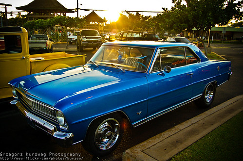 '67 Chevy Nova SS | Sunset on Maui. Hawaii. Beautiful car ...