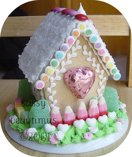 Valentine's Day Gingerbread/Sugar Cookie House, BACK | by sassybeautimus - The Gingerbread Journal