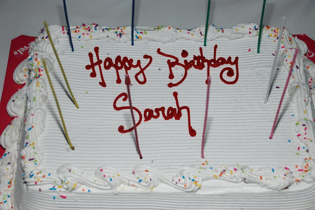 Happy Birthday Sarah Carvel Ice Cream Cake Yummy Joe