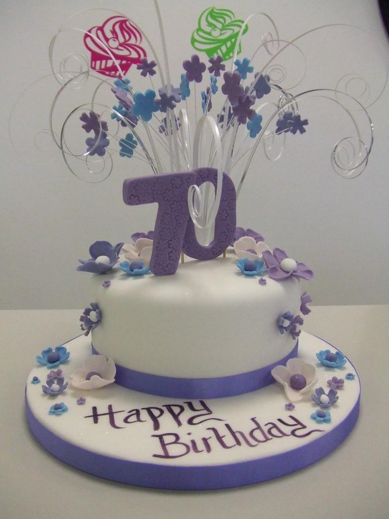Cake 70th Birthday Jules Enquiriescakechester Flickr