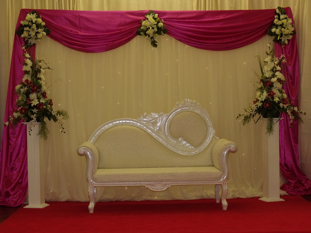 Asian wedding stage decorations flickr for Asian decoration