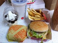 McDonalds | Hunger Buster. Big Mac, cheeseburger, fries, sun… | Flickr