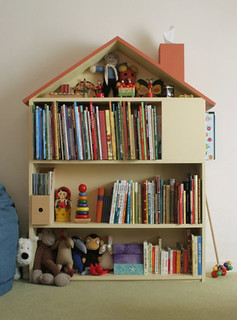 diy project: dollhouse bookshelf | by the style files