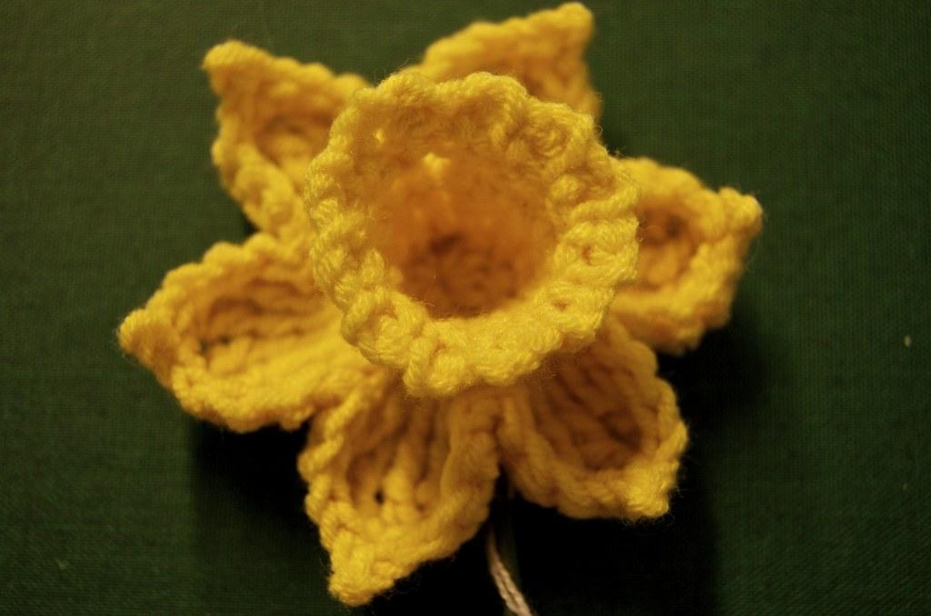 Crochet Daffodil Plashing Vole Flickr