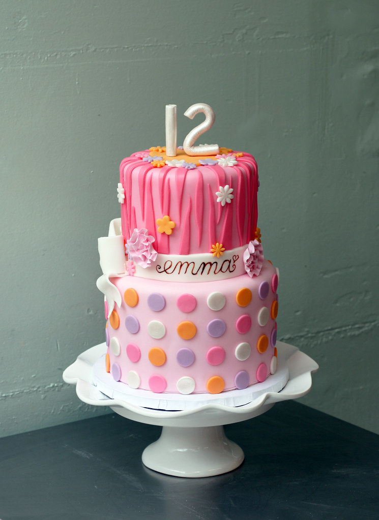 Girly 12th Birthday For Emma Cookies And Cream Buttercream Flickr