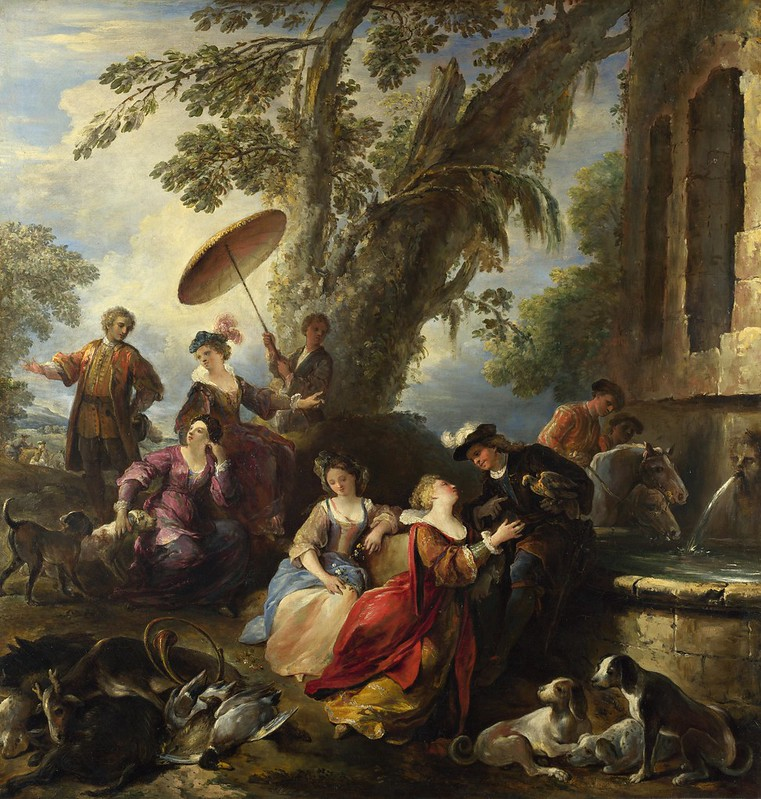 Joseph Parrocel - The Return from the Hunt (c.1700)