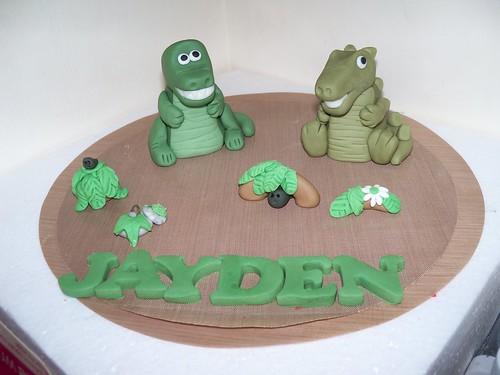 how to make a 3d t rex cake