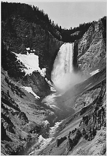 """Yellowstone Falls,"" Yellowstone National Park, Wyoming, 1933 - 1942 
