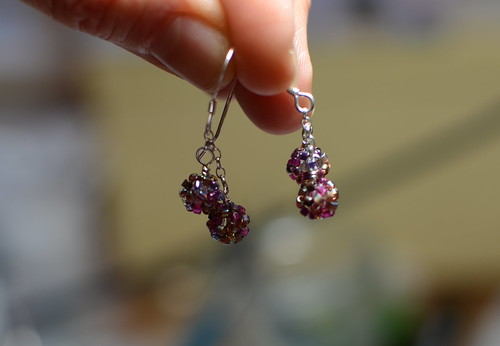 Vineyard delica earrings | by dottycookie