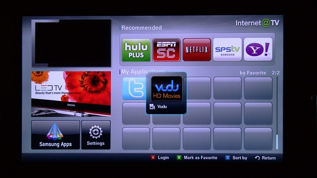 Vudu Samsung 6500 Internet TV Screen BooyaGadget