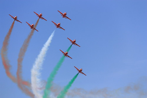 "The Surya Kiran Aerobatic Team (SKAT) at Aero India 2011 | by ""The Wanderer's Eye Photography"""