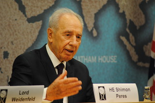 President Shimon Peres | by Chatham House, London