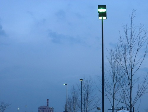 lamp posts across the post office parking lot a street by l e o. Black Bedroom Furniture Sets. Home Design Ideas