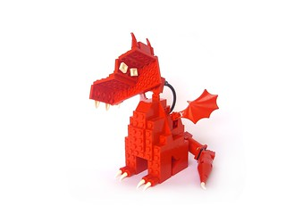 """Gathering for Gardner"" LEGO Dragon 