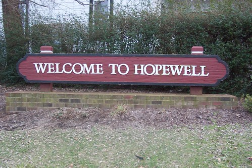 Hopewell Welcome Sign