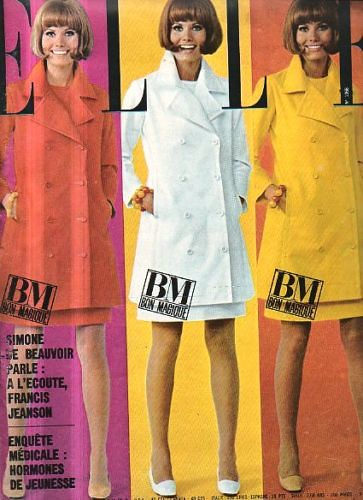 Elle June 1966 Model Maud Adams Is Wearing A Creation Of