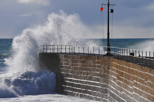 Waves at Porthleven Pier | by swhite99