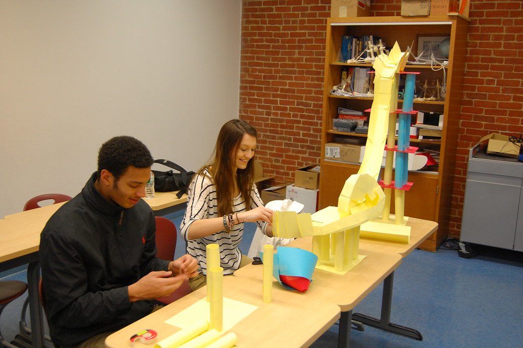Physics Classes Working On A Paper Roller Coaster Project Flickr