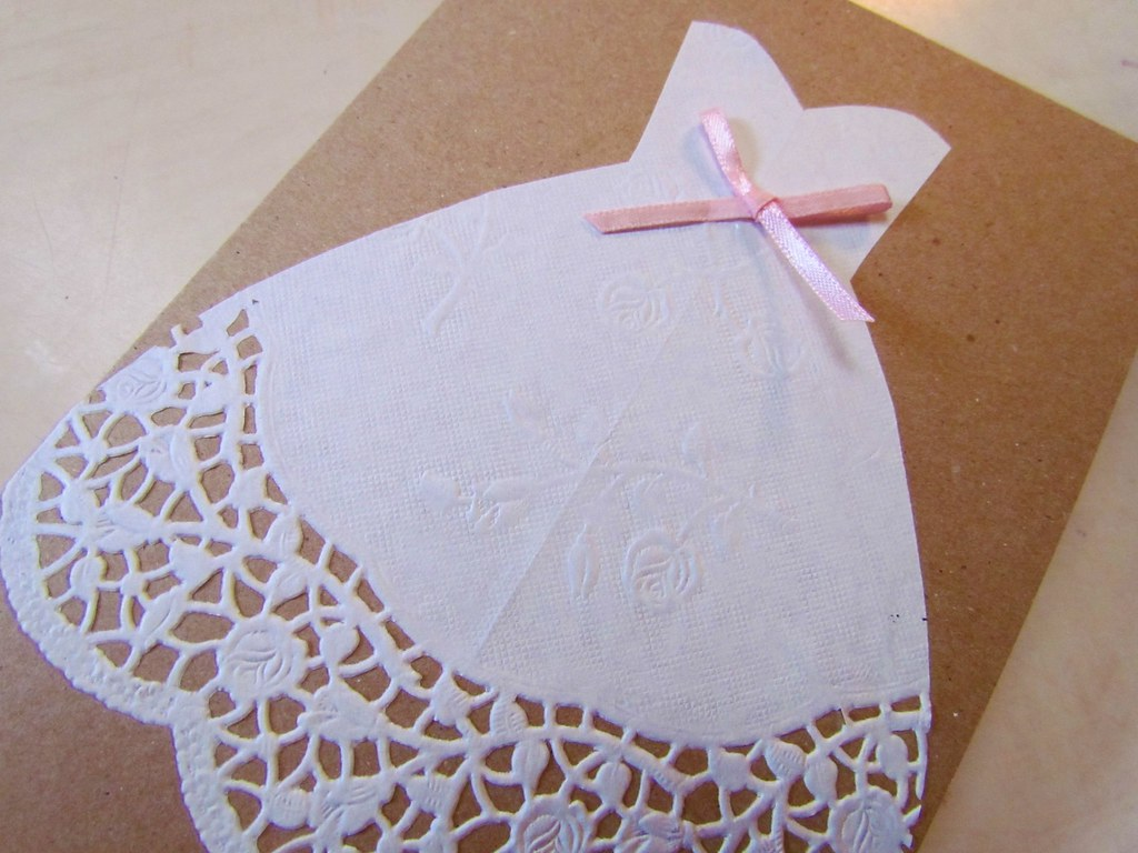 easy diy bridal shower card by twobutterflies
