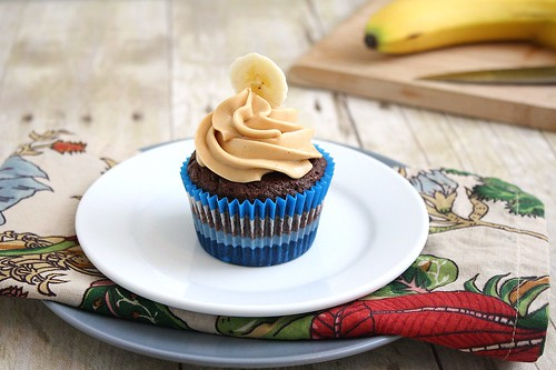 Chocolate Banana Cupcakes with Peanut Butter Buttercream | by Tracey's Culinary Adventures
