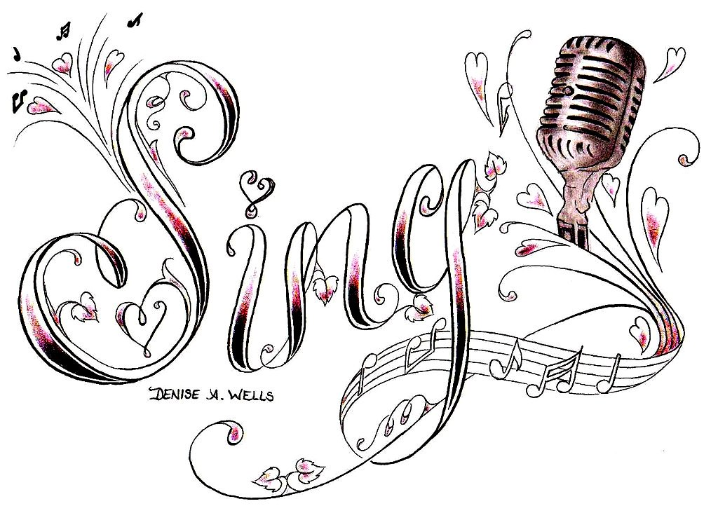 Sing With Microphone Tattoo Design By Denise A Wells Flickr