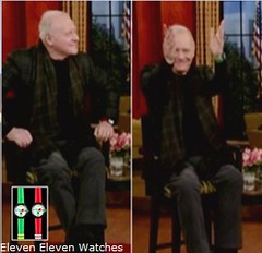 Anthony Hopkins Wears an Eleven Eleven Watch on Live! With Regis and Kelly | by Hollywood_PR