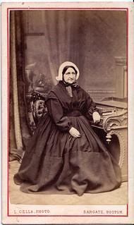 Boston Widow English Carte De Visite Circa 1860