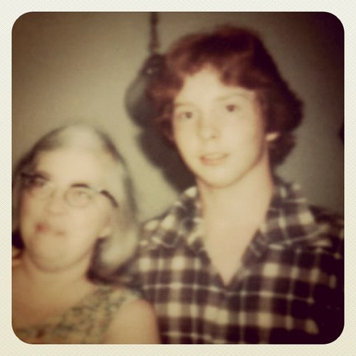 Me at sixteen with my mom. Got my drivers license the day I turned 16, wrecked the car the very next day. | by ObieVIP