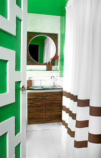 Green Bathroom | by Jessie {Creating Happy}