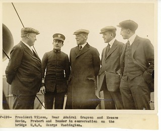 President Wilson and Dr. Grayson Aboard the U.S.S. George Washington | by Woodrow Wilson Presidential Library Archives