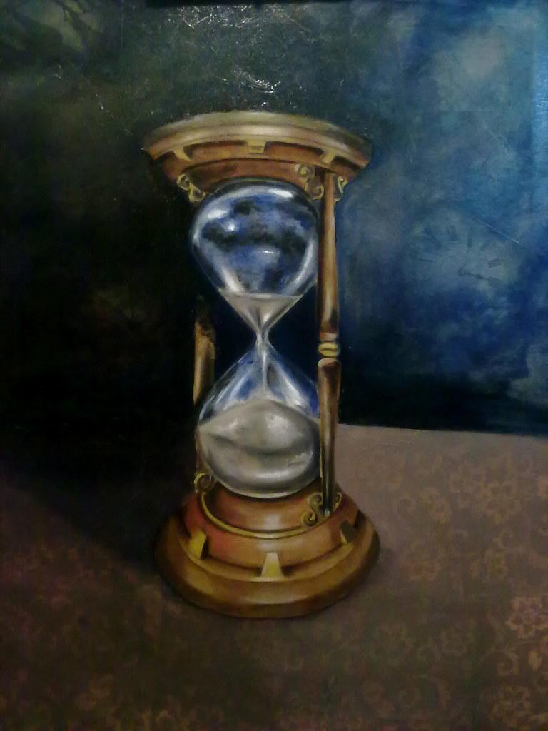 Reloj De Arena Pintura Al óleo Laura Flickr